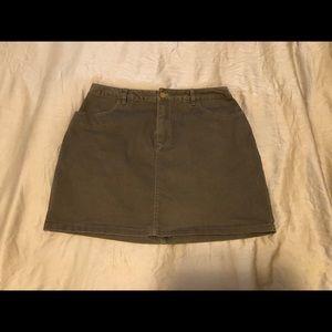 Army Green Cargo Skirt